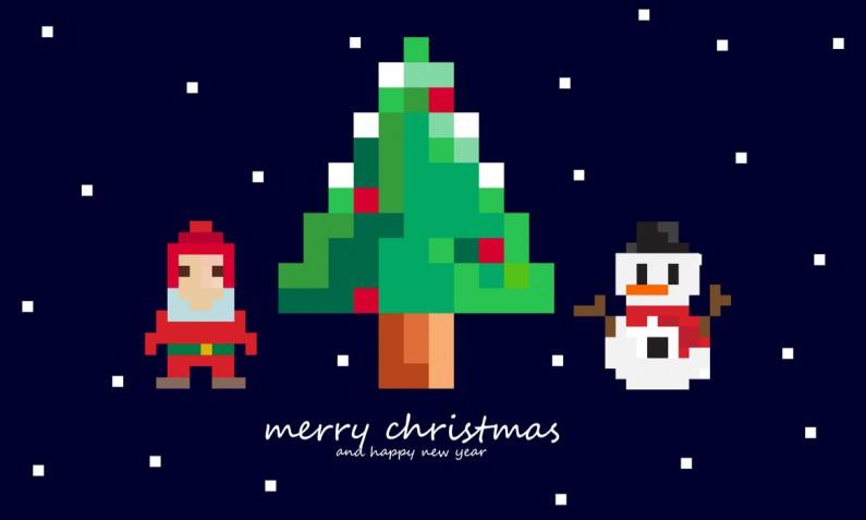 Pixel art di Natale: le immagini per lavoretti e decorazioni
