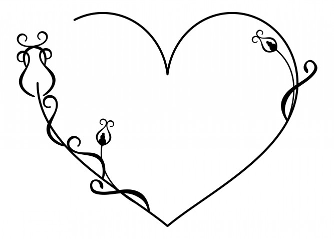 Schemi a punto catenella a tema amore: 7 disegni gratis