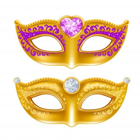 Maschere di Carnevale colorate: 7 modelli gratis originali