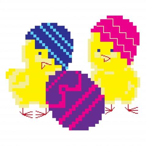 Pixel art Pasqua: 9 disegni gratis che vorrai avere subito