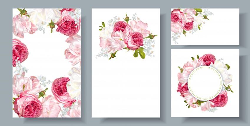 Partecipazioni nozze fai da te da scaricare gratis: 11 modelli a tema floreale