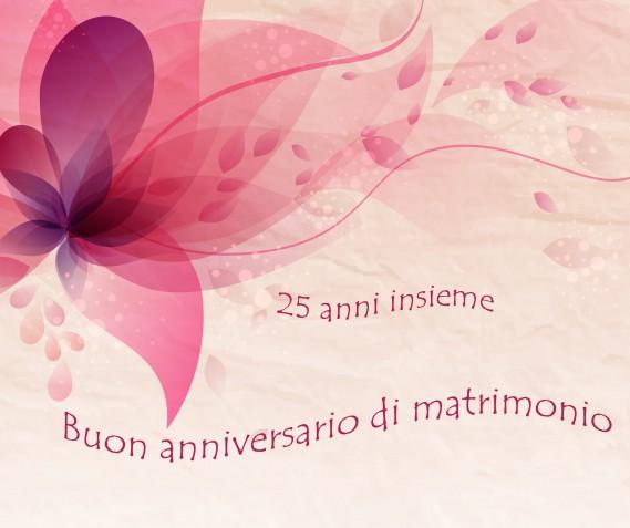 Immagini anniversario 25 anni matrimonio: le più belle per gli auguri delle nozze d'argento