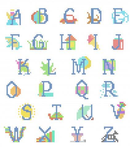 Alfabeti punto croce gratis: 15 schemi da non perdere