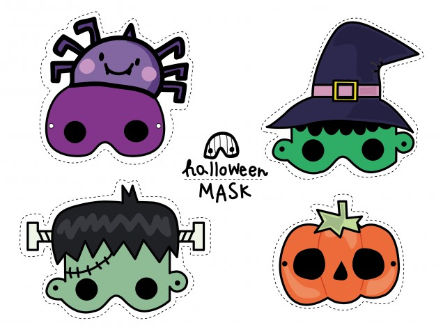 Maschere Halloween da stampare: 11 immagini gratis imperdibili