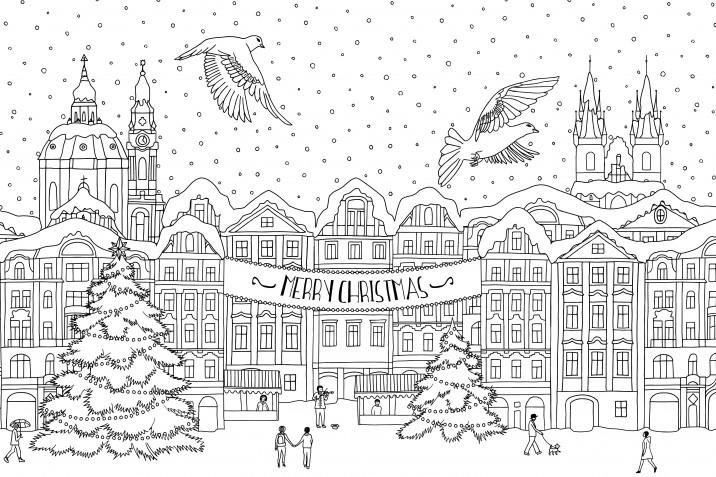 Biglietti di Natale da colorare: i disegni da personalizzare