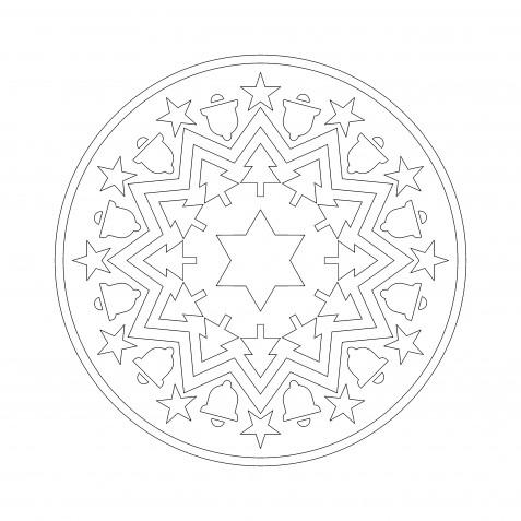 Mandala natalizi: 7 disegni antistress da colorare per Natale