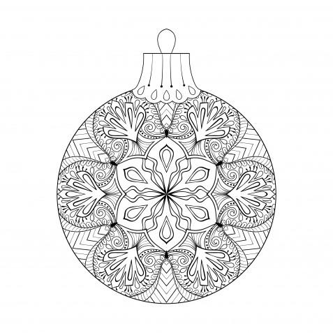 Palline di Natale da colorare: 8 disegni da stampare e appendere