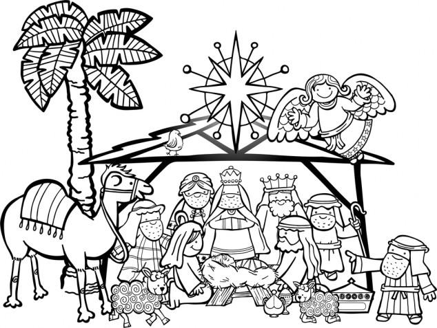 Presepe da colorare: 7 immagini gratis per i lavoretti di Natale