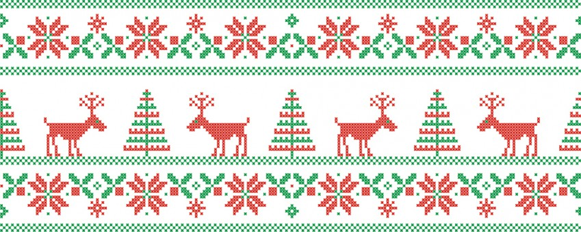 Greche natalizie a punto croce: 5 schemi gratis che vorrai fare subito