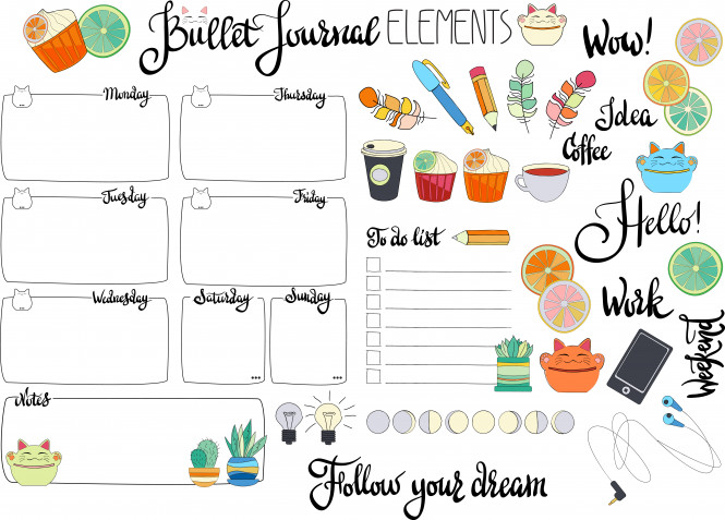Bullet journal: 9 idee da stampare gratis