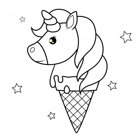 Disegni unicorno kawaii da colorare: 7 immagini gratis