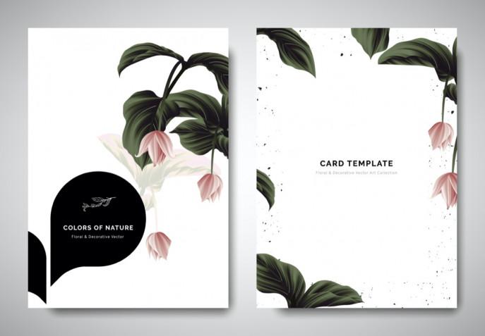 Biglietti con fiori da stampare: 5 design di primavera