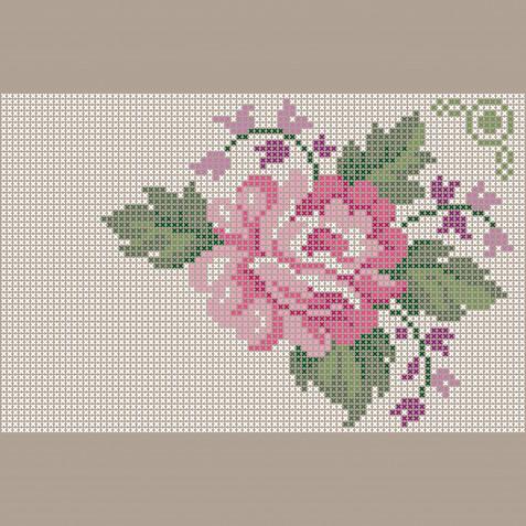 Punto croce rose: 13 schemi gratis per i ricami floreali