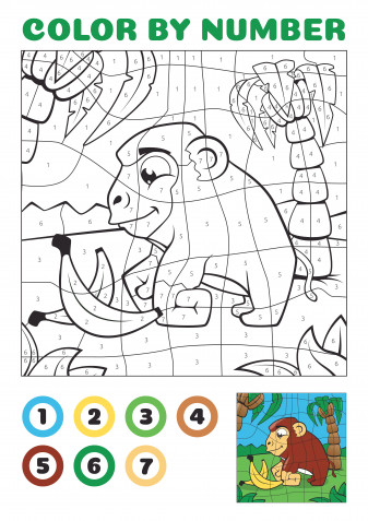 Disegni da colorare con i numeri: 9 immagini gratis da stampare