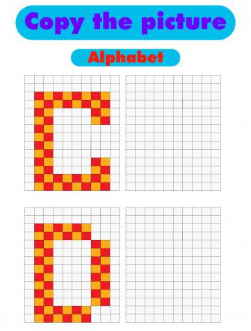 Pixel art lettere: gli schemi da scaricare gratis