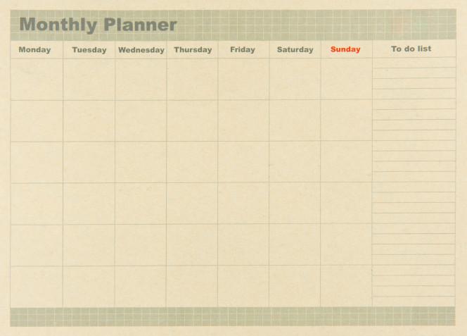 Planner mensile da stampare gratis: 8 modelli per l'organizzazione perfetta