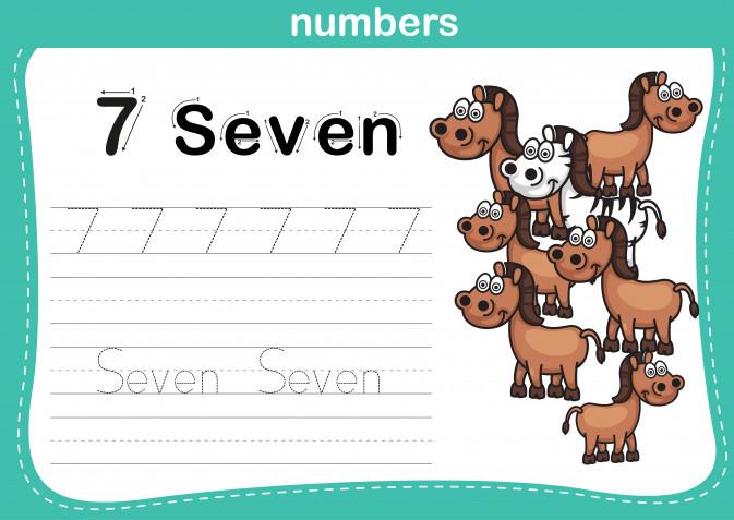 Schede numeri in inglese per bambini da scaricare gratis