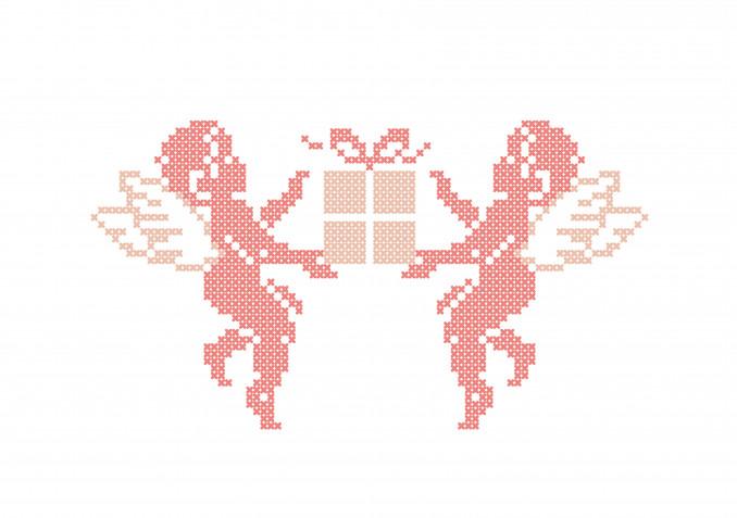 Angeli a punto croce: 7 schemi gratis per i ricami delicati