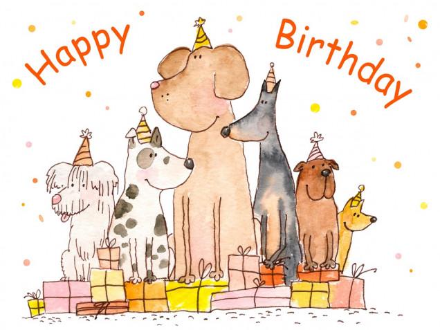 Biglietti di auguri compleanno con gatti e cani: 7 design da scaricare