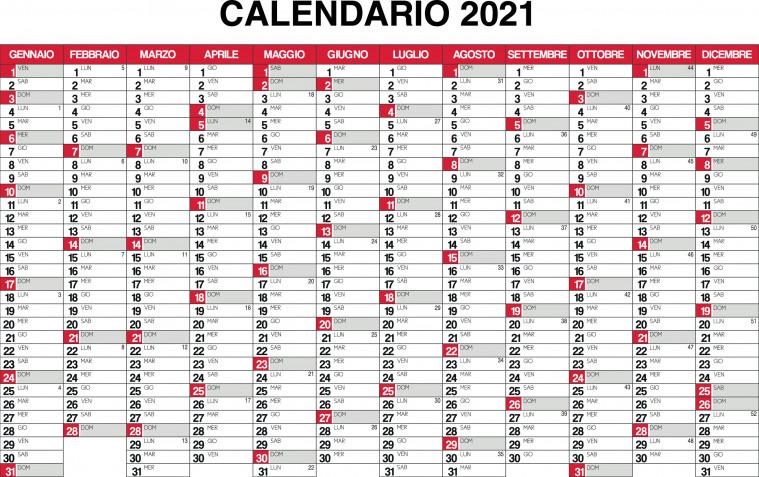 Calendario 2021 da stampare: 14 modelli gratis imperdibili