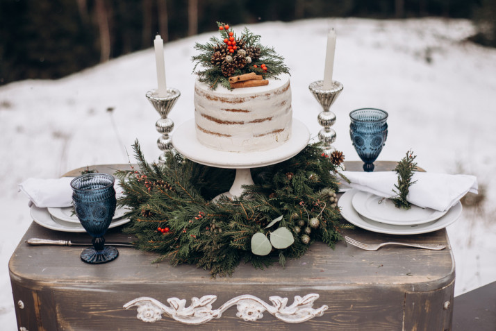 Torte matrimonio inverno: 8 decorazioni ispirate alla stagione