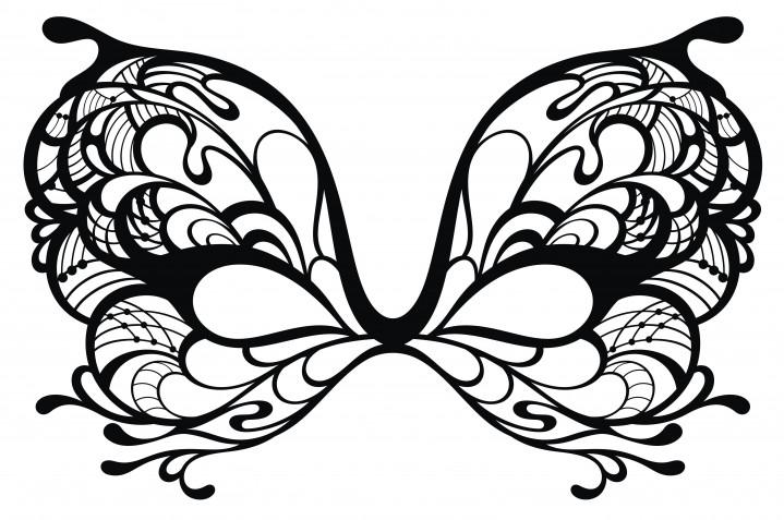 Maschera farfalla da colorare: 7 disegni da scaricare gratis
