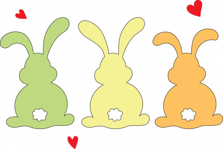Sagome coniglietti pasquali da ritagliare: 9 immagini da scaricare gratis