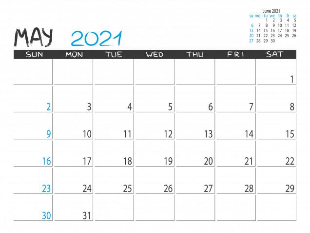 Calendario maggio 2021 da stampare: 11 modelli gratis