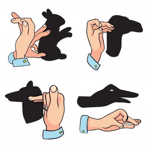 Come fare le ombre cinesi con le mani: le immagini per realizzarle