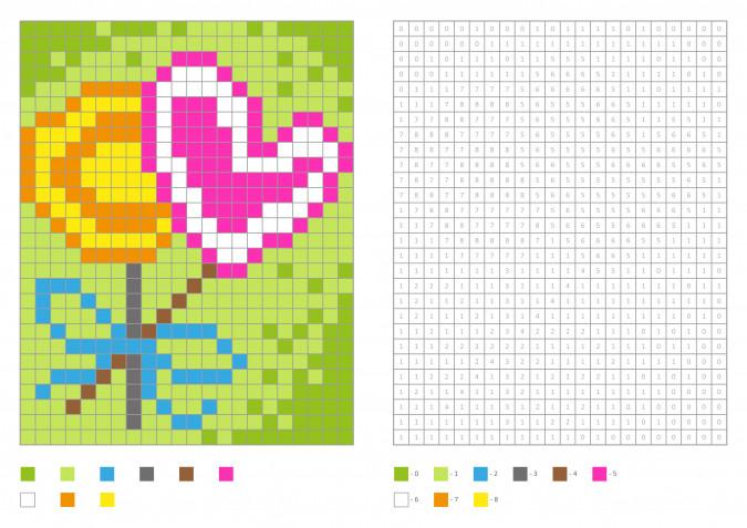 Pixel art festa della mamma: 7 schemi gratis