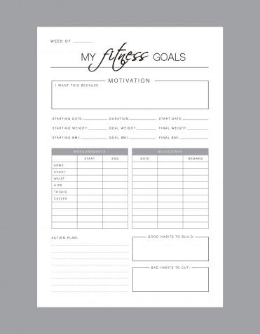 Fitness journal da scaricare gratis: 9 planner che ti motivano