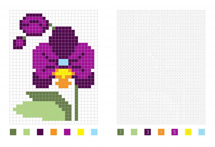 Pixel art fiori facili: 12 schemi gratis da non perdere