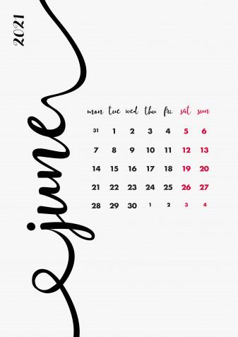 Calendario giugno 2021 da stampare: 11 modelli gratis