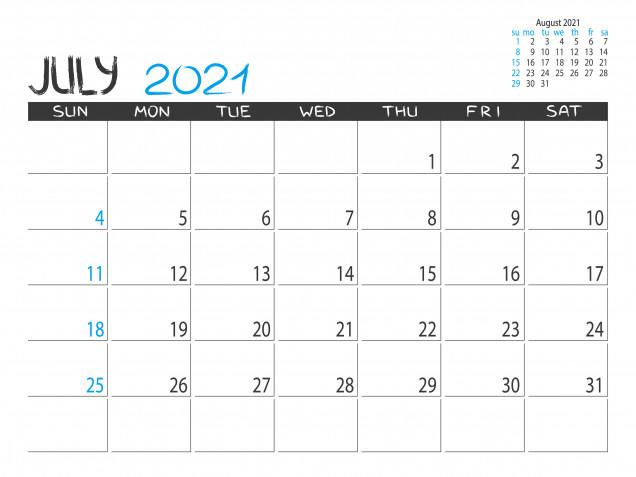 Calendario luglio 2021 da stampare: 11 modelli gratis da non perdere