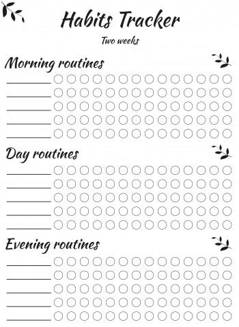 Tracker abitudini da stampare gratis: 11 modelli per il bullet journal