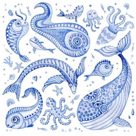 Immagini per decoupage da stampare gratis a tema mare: le più belle