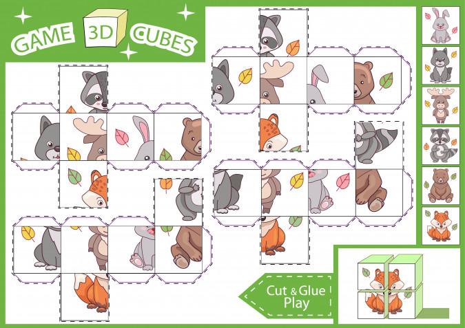 Cubi puzzle fai da te da stampare: 9 modelli gratis