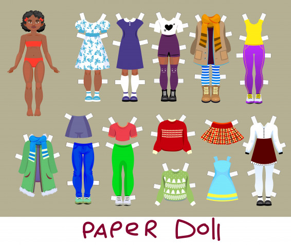 Bambole di carta da stampare e vestire: 9 immagini gratis