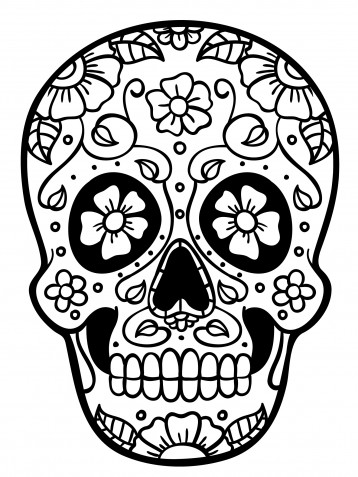 Teschi messicani da colorare: 9 immagini gratis