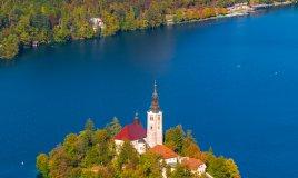 Lago Bled Slovenia isola castello