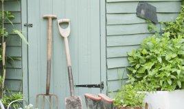 hobby fai da te casetta verde giardinaggio attrezzi ripostiglio giardino natura piante ecologia