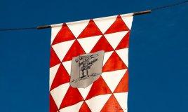 Palio Asti bandiera gonfalone giostra