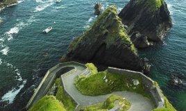Irlanda fiordi mare natura verde oceano