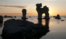 isola, Gotland, bella, affascinante notte alba viaggi