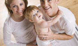 mamma, papà e bambino