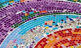 mosaico, divertente, figli, gioco