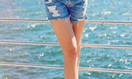 shorts, vita alta, fashion