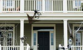 casa allestita per halloween