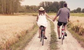 amore coppia bici natura anima, gemella, giusto