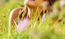 donna natura sorriso freschezza